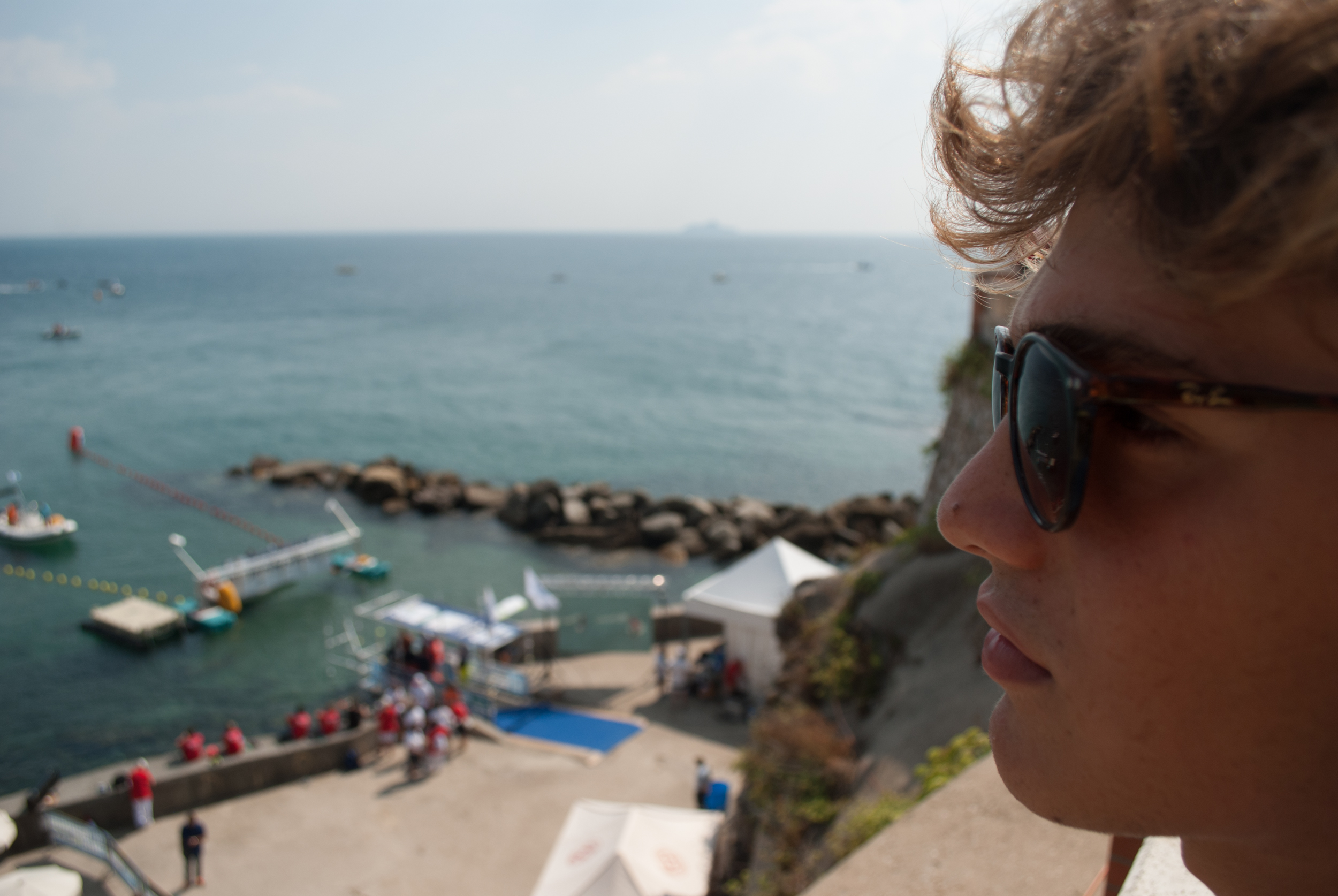 people and sea